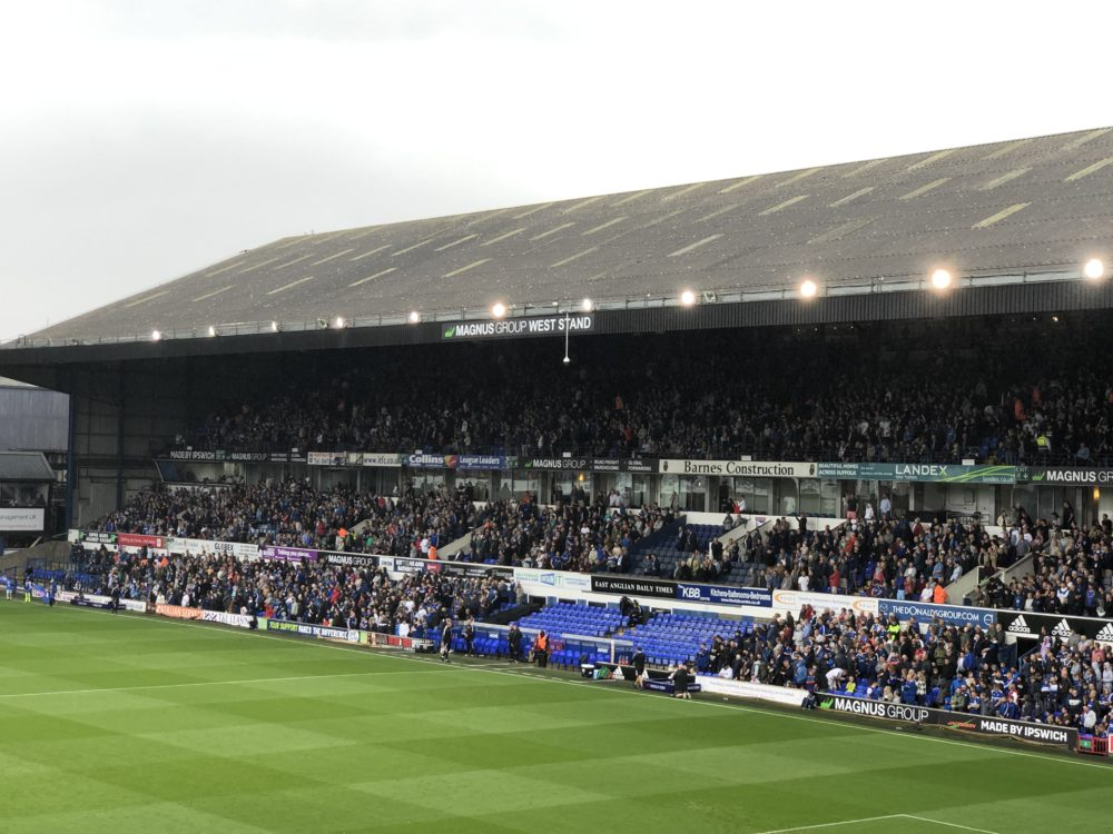 Magnus Group West Stand at Ipswich Town Football Club